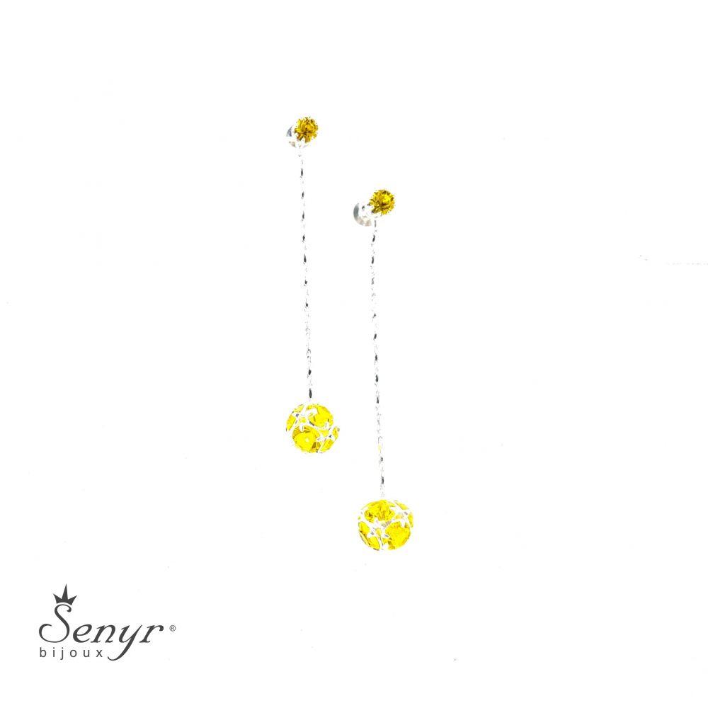 Bohemian crystal earrings BALL