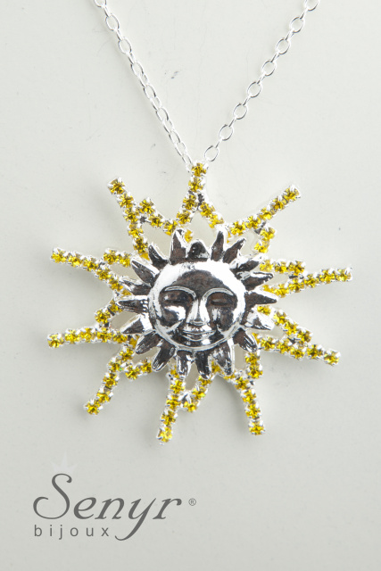 Sun with crystals