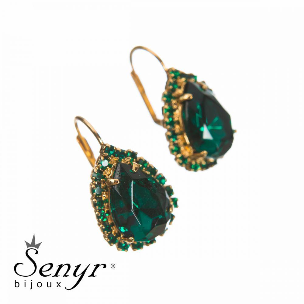 Earrings Queen Emerald