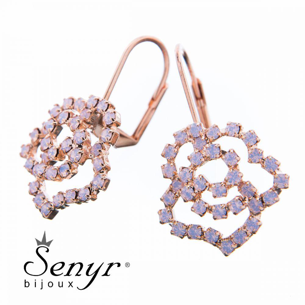 Earrings Small Rose Rose Opal
