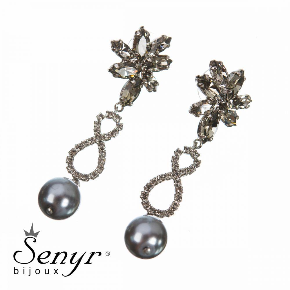 Earrings Pearl Treasure Gray