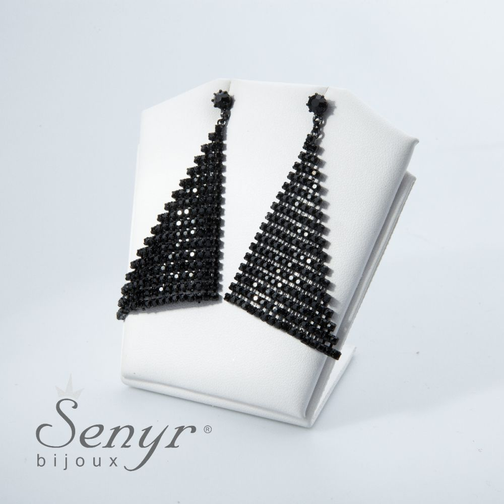 Earrings Magnificent Triangle Black