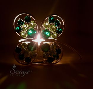 Crystal CLOVERLEAF - candle holder
